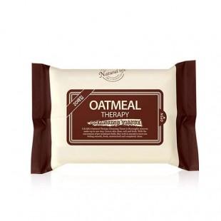 CALMIA Oatmeal Therapy Cleansing Tissue/Cалфетки для снятия макияжа