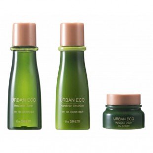 THE SAEM Urban Eco Harakeke Skin Care Mini 3 Set/ Набор с экстрактом новозеландского льна 31мл*2+8мл