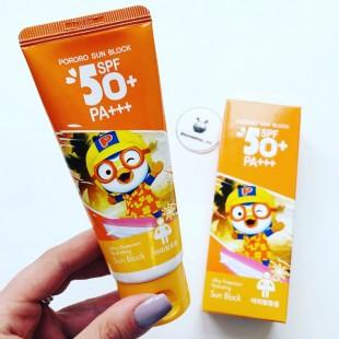 Pororo Sun Block SPF50+PA+++/Детский солнцезащитный крем Пингвинёнок Пороро 60 мл