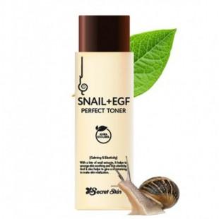 SECRET SKIN Snail+EGF Perfect Toner/Тонер для лица с муцином улитки и EGF