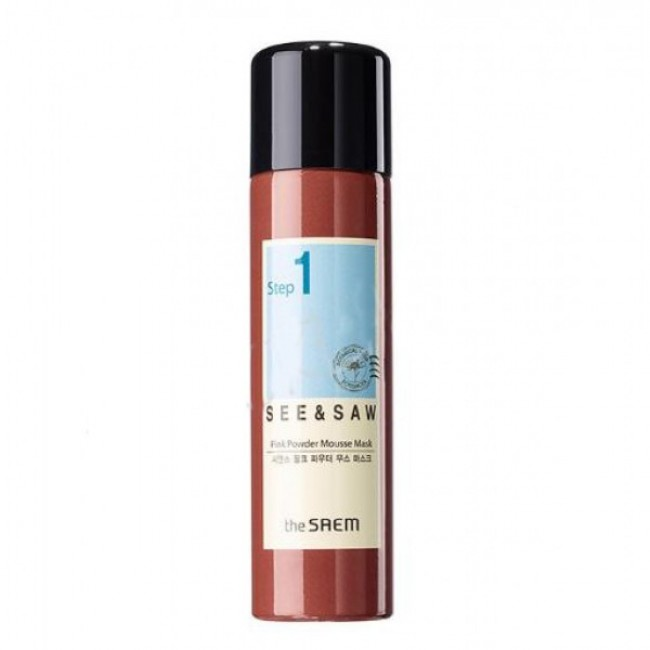 THE SAEM See & Saw Pink Powder Mousse Mask 100g/Маска-мусс для проблемной кожи