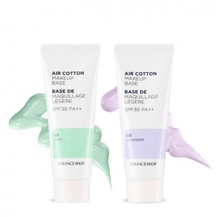 THE FACE SHOP Air Cotton Make Up Base/ База под макияж для выравнивания тона кожи