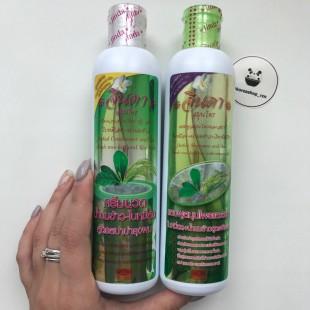 Jinda Herbal Shampoo and Conditioner Spa Fresh mee-leaf+rice milk+vitamin B5/Шампунь и кондиционер от выпадения волос с рисовым молочком 250 мл