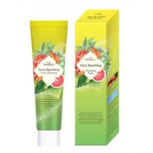 deoproce juicy sparkling cleansing foam/кислородная пенка для умывания 70g