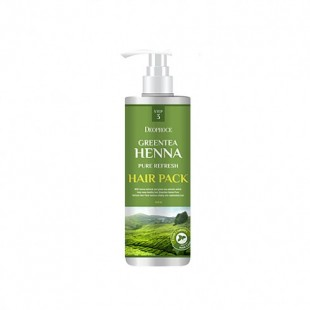 Greentea Henna Pure Refresh Hair Pack/Маска для волос с зеленым чаем и хной 1l