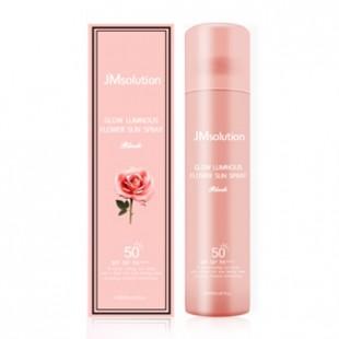 JM SOLUTION Glow Luminous Flower Sun Spray/ Солнцезащитный спрей с экстрактом розы 180мл