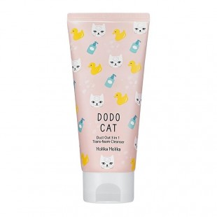 HOLIKA HOLIKA Dodo Cat Dust Out 3 in 1 Trans-foam Cleanser 120g
