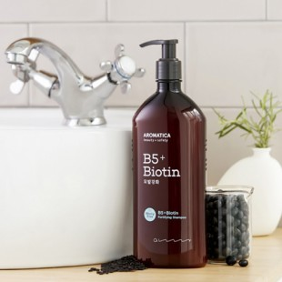 AROMATICA B5 + Biotin Fortifying Shampoo/ Укрепляющий шампунь с биотином 400мл