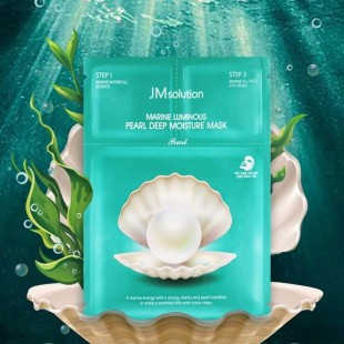 JM SOLUTION Marine Luminous Pearl Deep Moisture Mask/Трехшаговый набор для увлажнения кожи.