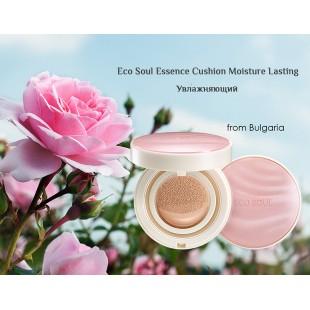 THE SAEM Eco Soul Essence Cushion All Cover SPF50+ PA++++/Тональная основа с экстрактом дамасской розы SPF50+ PA++++