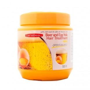 Carebeau Beer & Egg Yok Hair Treatment/ Маска для волос с яичным желтком и пивом 500мл
