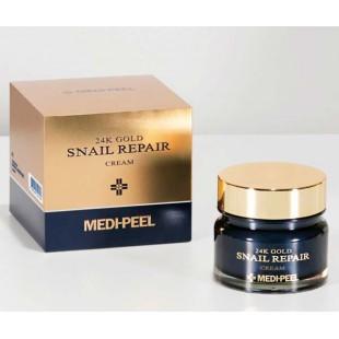 Medi-peel 24K Gold Snail Cream/ Крем для лица с коллоидным золотом и муцином улитки 50мл