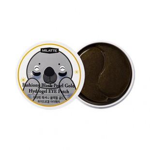 Milatte Fashiony Black Pearl Gold Hydrogel Eye Patch/Патчи для кожи вокруг глаз с черным жемчугом и золотом
