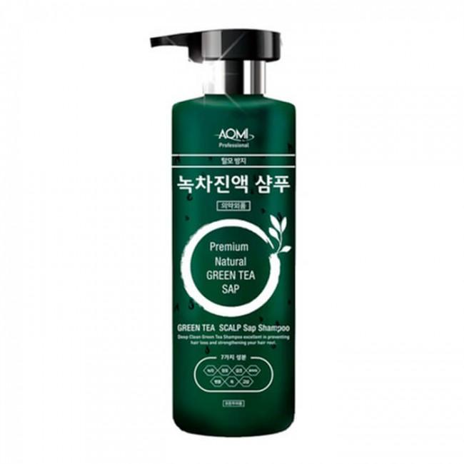 AOMI Green Tea Leaf Extract Shampoo/Шампунь для волос экстрактом листьев зелёного чая