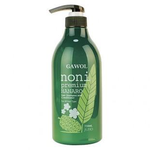 JUNO Gawol Noni Premium Hanaro Hair Shampoo and Conditioner/ Шампунь-кондиционер с экстрактом нони 750мл