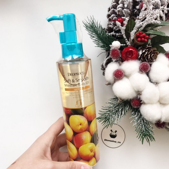 DEOPROCE SOFT & SMOOTH MOISTURE BODY OIL APRICOT/МАСЛО ДЛЯ ТЕЛА  200мл