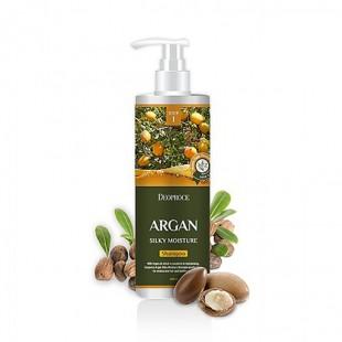 DEOPROCE SHAMPOO - ARGAN SILKY MOISTURE/Шампунь для волос с аргановым маслом 1L