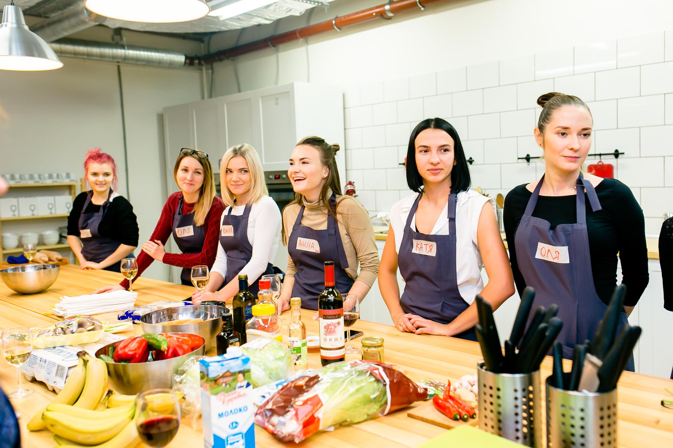 Первый мастер класс с кулинарной мастерской JustFood
